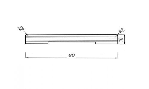 Coprifilo piatto10x80/R2