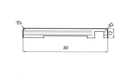 Coprifilo piatto12x80/R2