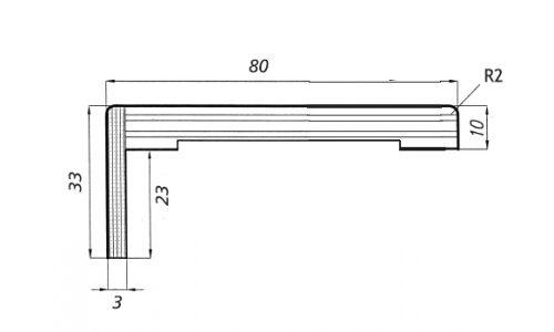 Coprifilo piatto_telescopico10x80_23/R2
