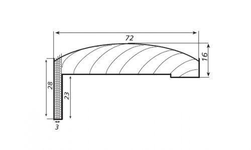 Coprifilo curvo telescopico 16x72/23